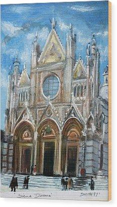 Duomo Sienna Wood Print by Tom Smith
