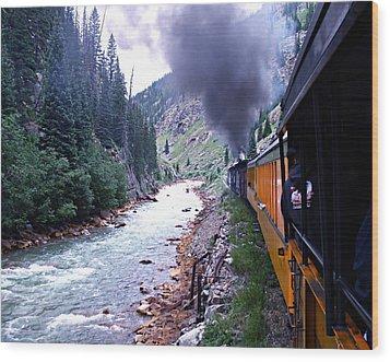 Durango To Silverton Wood Print by Kume Bryant
