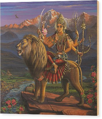 Durga Ma Wood Print