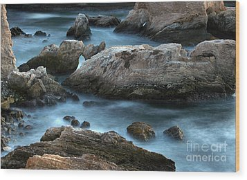 Wood Print featuring the photograph Dusk At Montana De Oro by Michael Rock