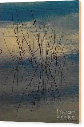 Dusk Wood Print by Christy Ricafrente