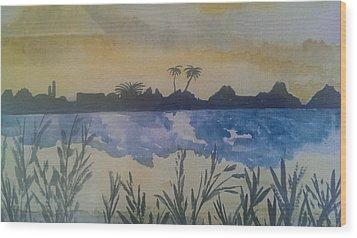 Dusk Wood Print by Judi Goodwin