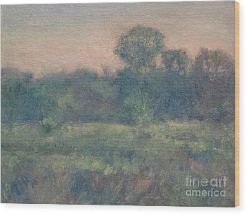 Dusk On The Meadow Wood Print by Gregory Arnett
