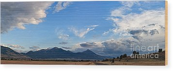 Dusk Over The Gallatin Range Wood Print by Charles Kozierok