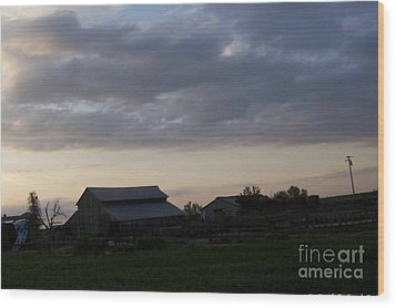 Wood Print featuring the photograph Dusk Til Dawn by Bobbee Rickard