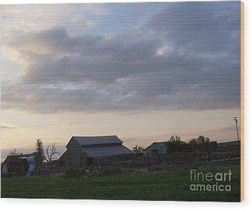 Wood Print featuring the photograph Dusk To Dawn by Bobbee Rickard
