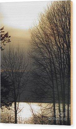 Dusk Wood Print by Tonya P Smith