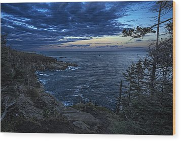 Dusk Vista At Quoddy Head State Park Wood Print by Marty Saccone