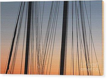 Dusky Ropes Wood Print by Sebastian Mathews Szewczyk