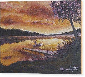Dusky Shores Wood Print by Monica Veraguth
