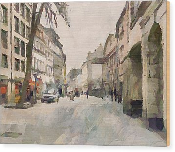 Dusseldorf Old Town Street 1 Wood Print by Yury Malkov