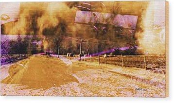 Dust Bowl Wood Print by Elizabeth McTaggart