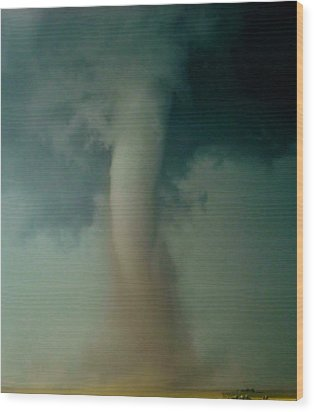 Wood Print featuring the photograph Dust Eating Tornado by Ed Sweeney