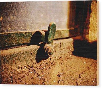 Dusty Window Wood Print by Richard Reeve
