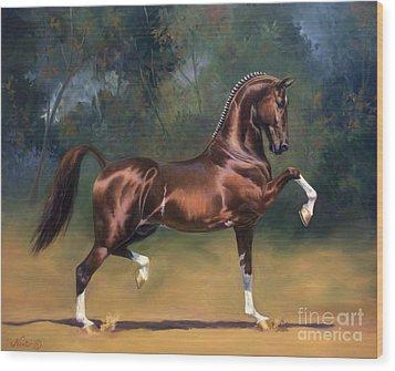 Dutch Harness Horse Saffraan Wood Print by Jeanne Newton Schoborg