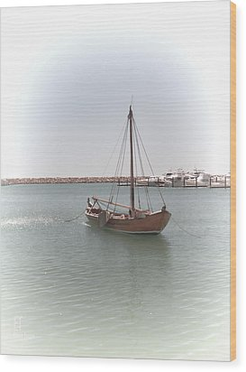 Dutch Vessel Wood Print by Elaine Teague