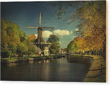 Wood Print featuring the photograph Dutch Windmill by Annie Snel