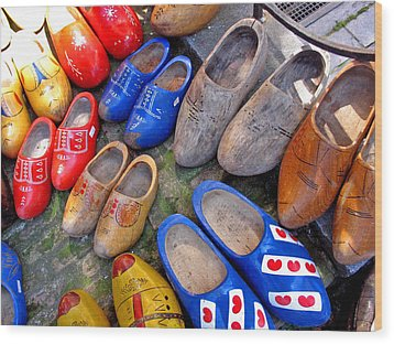 Dutch Wooden Shoes Wood Print