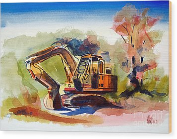 Duty Dozer II Wood Print