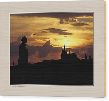 Wood Print featuring the photograph Dvorak And Skyline by Pedro L Gili