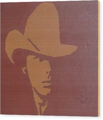 Dwight Yoakam Wood Print by Darlene Fernald