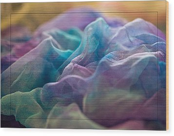 Wood Print featuring the photograph Dyed Silk by Liz  Alderdice