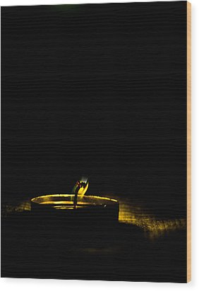 Dying Flame Wood Print by Gautam Gupta