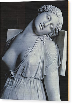 Dying Lucretia  Wood Print by Damian Buenaventura Campeny y Estrany