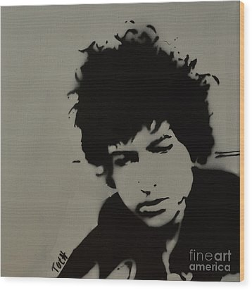 Dylan Spray Art Wood Print