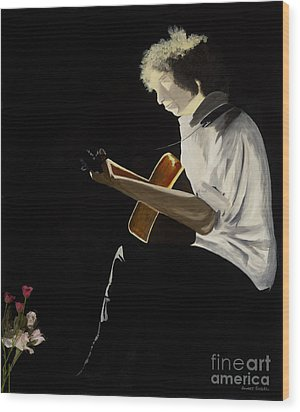 Wood Print featuring the painting Dylan by Stuart Engel
