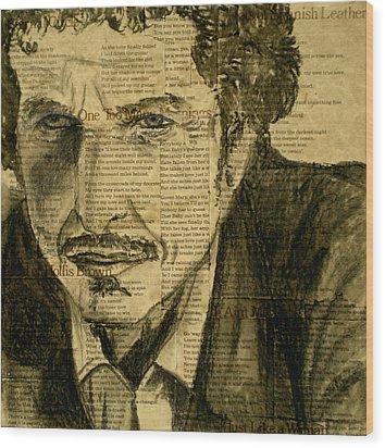 Dylan The Poet Wood Print by Debi Starr