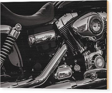 Wood Print featuring the photograph Dyna Super Glide Custom by Bob Orsillo