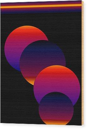 Dynamic Circles Wood Print by Gayle Price Thomas