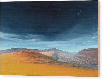 Dynamic Desert Wood Print by Jean Paul Thierevere