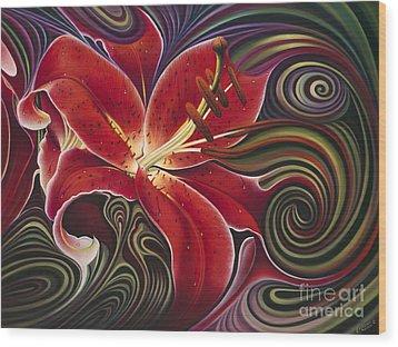 Dynamic Reds Wood Print