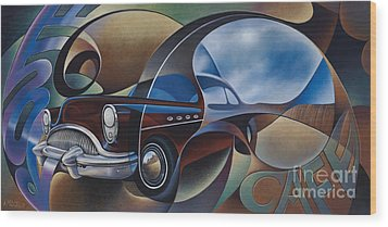 Dynamic Route 66 Wood Print by Ricardo Chavez-Mendez
