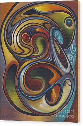 Dynamic Series #15 Wood Print by Ricardo Chavez-Mendez