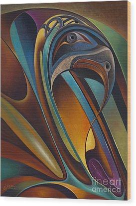 Dynamic Series #17 Wood Print by Ricardo Chavez-Mendez