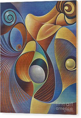 Dynamic Series #22 Wood Print by Ricardo Chavez-Mendez