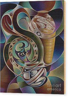Dynamic Still I Wood Print by Ricardo Chavez-Mendez