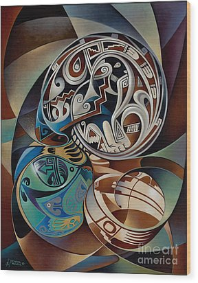 Dynamic Still Il Wood Print by Ricardo Chavez-Mendez
