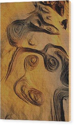 Dynamic World II Wood Print by Jean Paul Thierevere