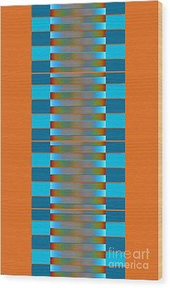Wood Print featuring the digital art Dynamics Fete 1b by Darla Wood