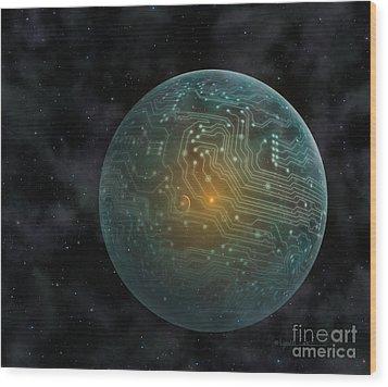 Dyson Sphere Wood Print