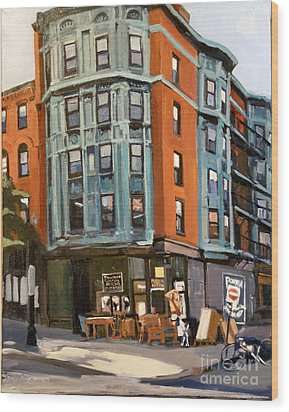 E And W Broadway Wood Print by Deb Putnam