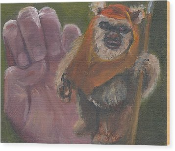 E Is For Ewok Wood Print