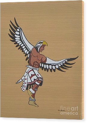 Eagle Dancer Wood Print by Bud  Barnes