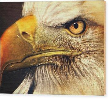 Eagle Eye 7 Wood Print by Marty Koch