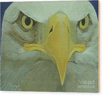Eagle Eyes Wood Print