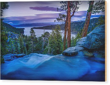 Eagle Falls At Dusk Over Emerald Bay  Wood Print